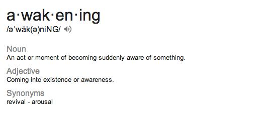 awakening glossary