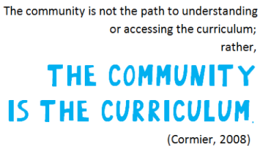 community is the curric