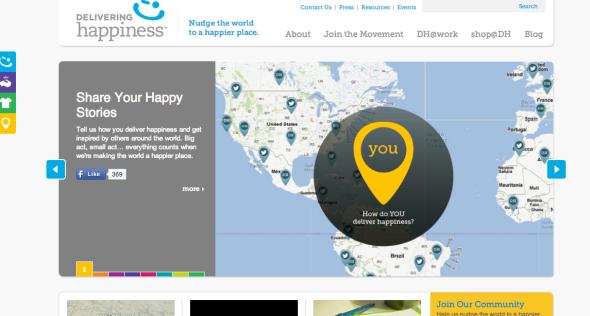delivering happiness site
