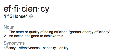 efficiency glossary