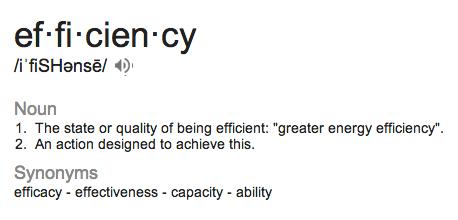 efficiency glossary