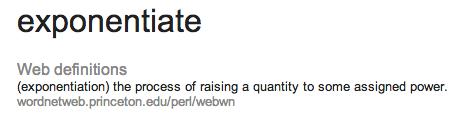 exponentiate defn