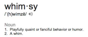 glossary whimsy