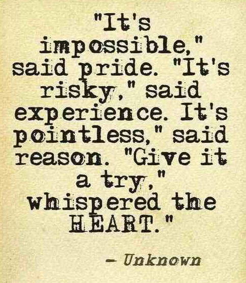 it's impossible risky pointless