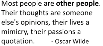 other people wilde