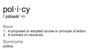 policy glossary