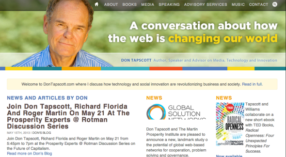 don tapscott's site