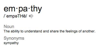 empathy glossary
