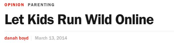 let kids run wild