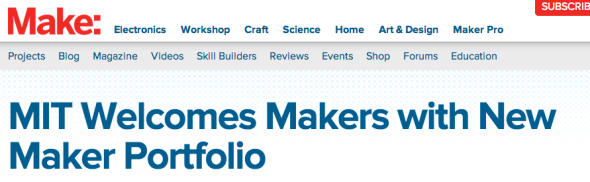 mit maker portfolio