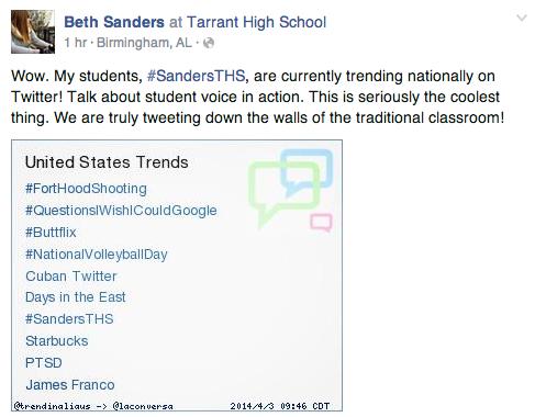 sanders trending on twitter