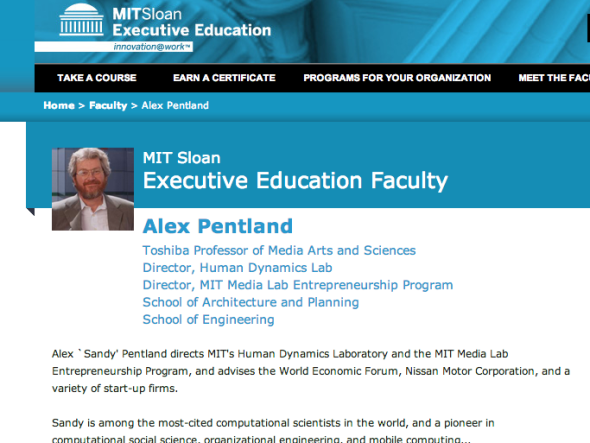 sandy pentland at mit