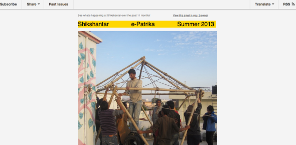 shikshantar newsletter