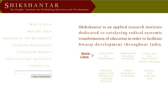 shikshantar site