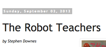 the robot teachers