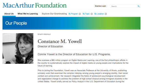 connie yowell page
