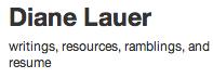 diane lauer's site