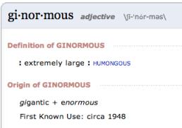 ginormous defn