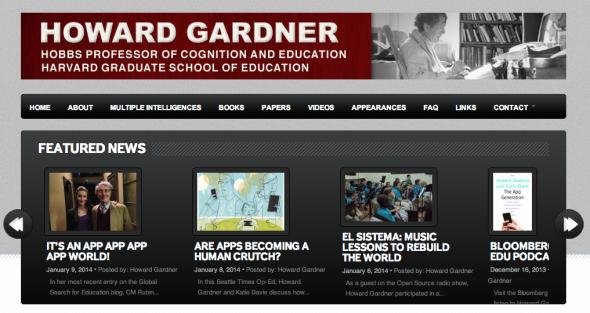Howard gardner the unschooled mind be you for Gardner website