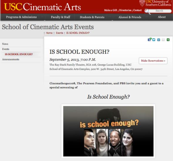 is school enough screening usc