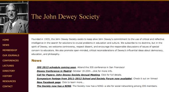 john dewey society