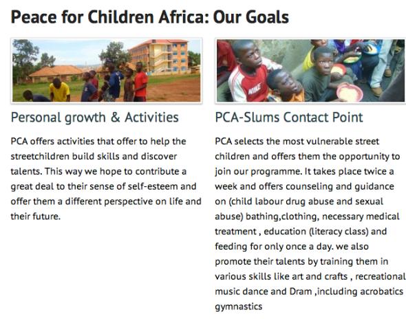 peace for children africa goals