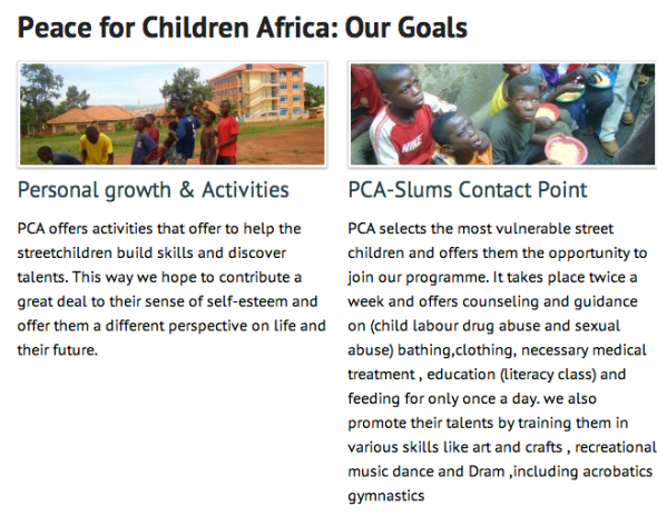 peace for children africa goals