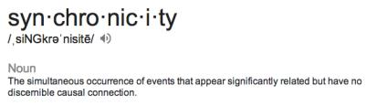 syncrhonicity defn