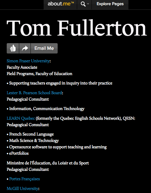 tom fullerton's about me