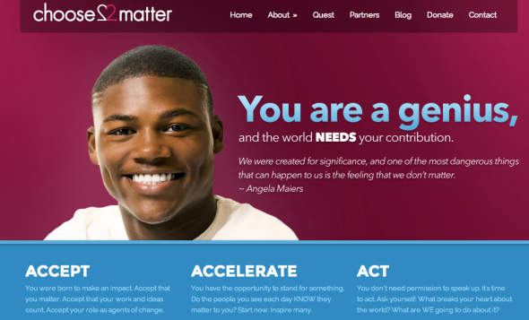 choose to matter site