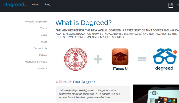 degreed site