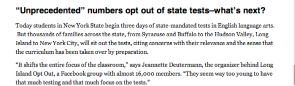 opt out of tests