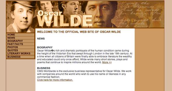 oscar wilde official site