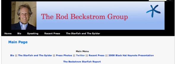 rod beckstrom's site