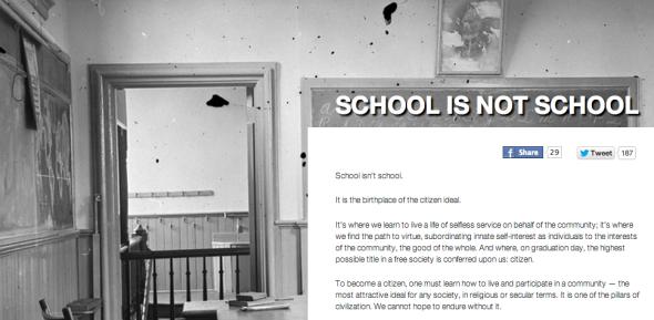 school is not school