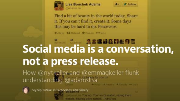 social media as convo