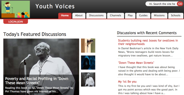 youth voices site