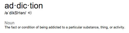addication defn