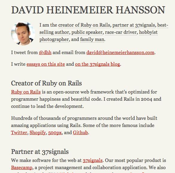 david heinemeier hansson's site