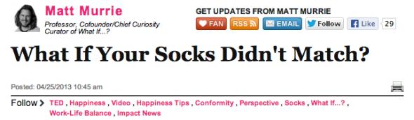 matt murrie socks huff po