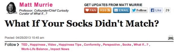 matt murrie socks huff po