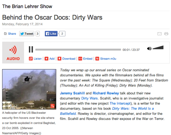 oscars dirty wars