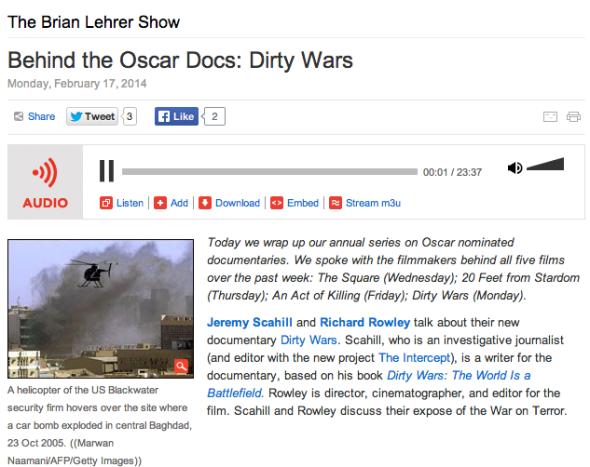 oscars dirty wars