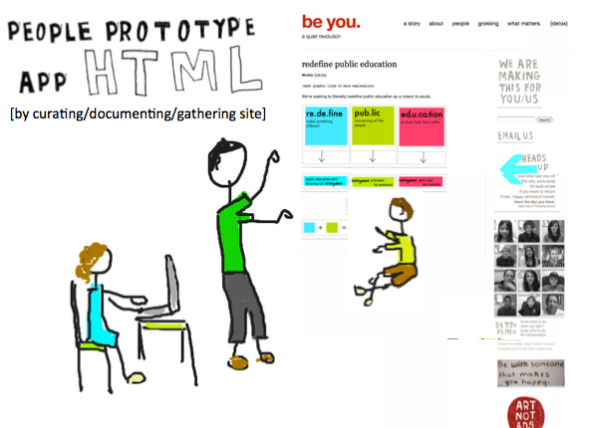 people prototype app html graphic