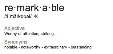 remarkable defn