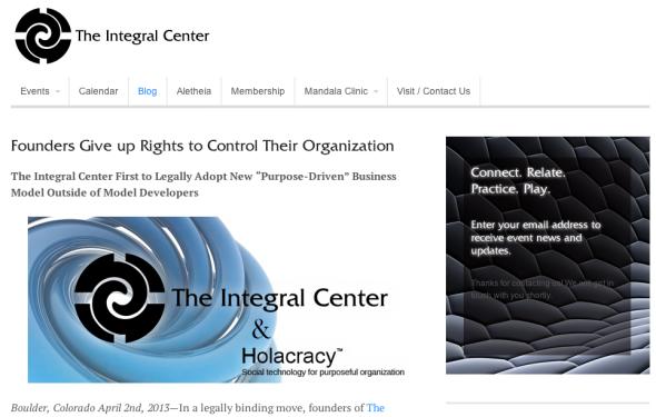 the integral center