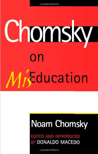 chomsky mis education