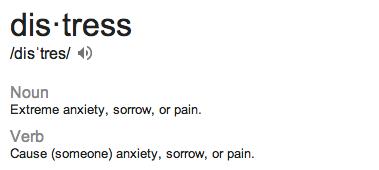 distress defn