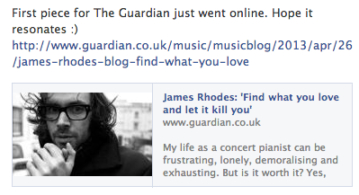 james rhodes on the guardian