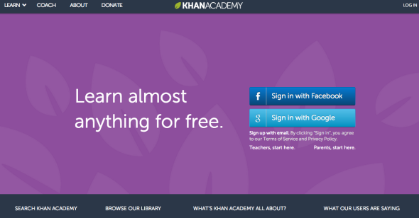 khan academy site